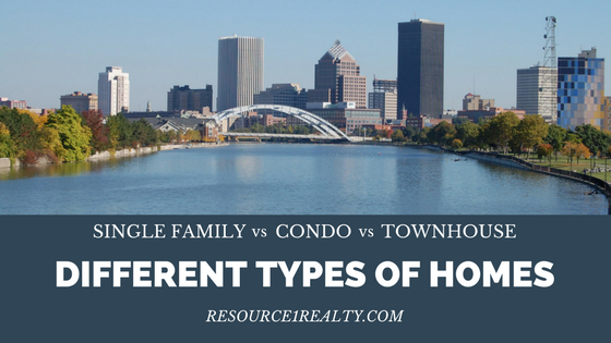 Different Types of Homes: Single Family v Condo v Townhouse