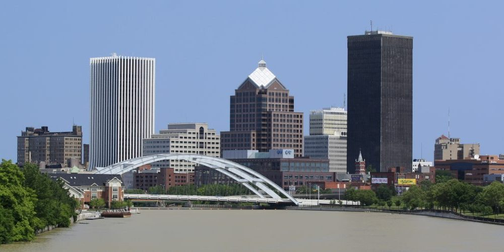 Rochester NY city skyline